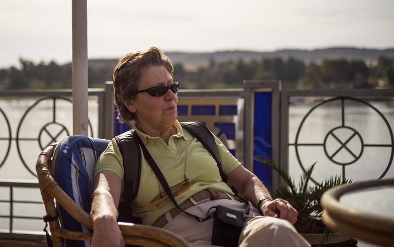 Maky navegando por el Nilo. Aswan