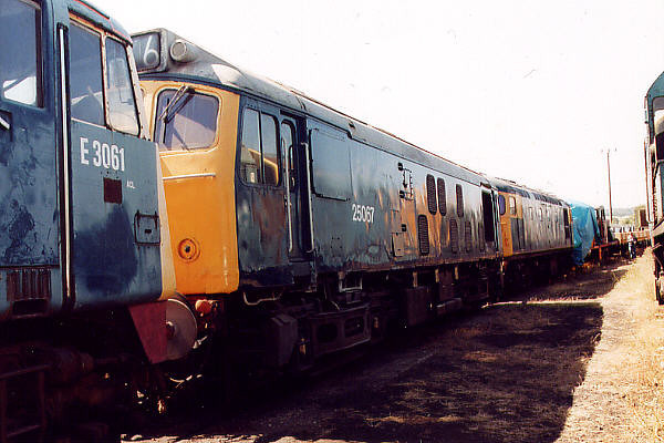 25067 at Barrow Hill on the 16th July 2000