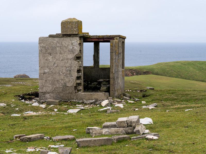 Abandoned building on the coast, Erris Peninsula, Erris Head Loop Walk, Glenamoy, Belmullet, County Mayo, Ireland