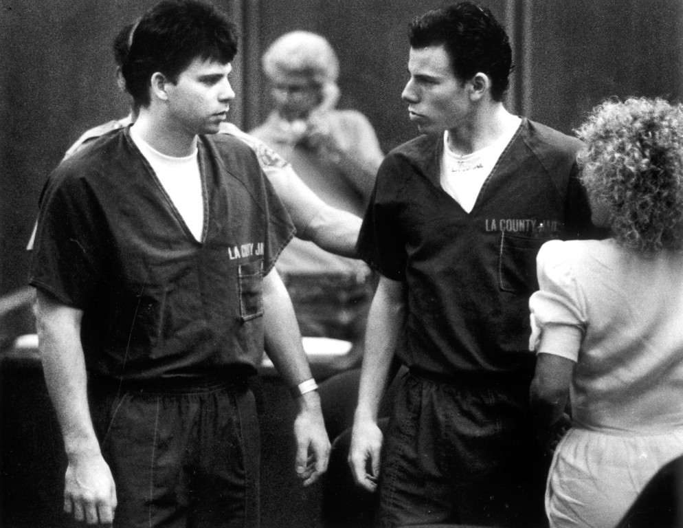 . Lyle and Erik Menendez are accused of killing their parents. (8/6/90)  (L.A. Daily News file photo)
