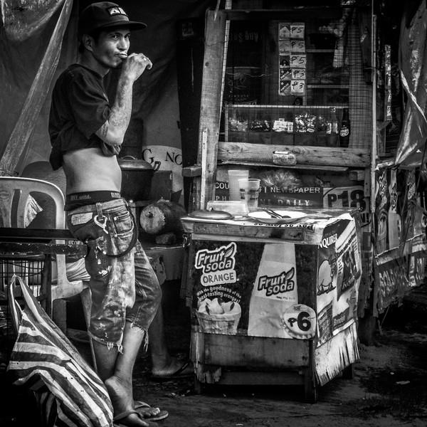 Street life scene in Manila.