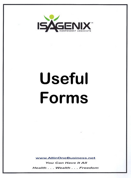 Useful Isagenix Independent Associate Forms