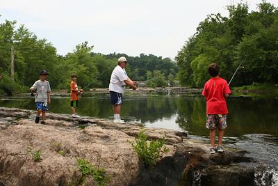 Fishing at Glenerie Lake