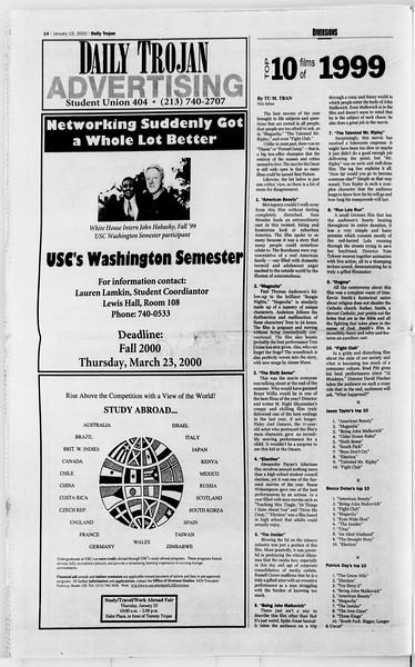 Daily Trojan, Vol. 139, No. 5, January 19, 2000