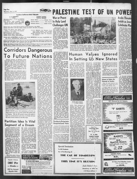 Daily Trojan, Vol. 39, No. 56, December 04, 1947