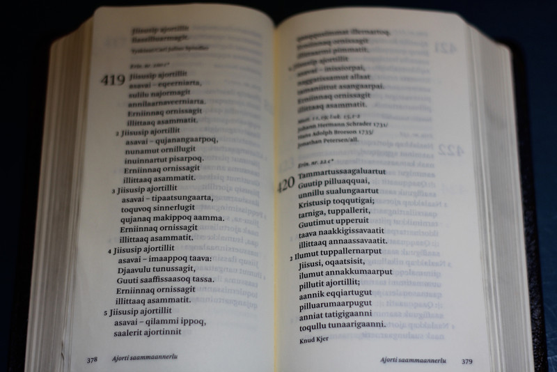 25 Hymnal in East Greenlandic