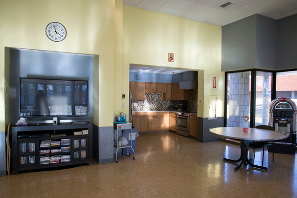 02/19/20 Wesley Bunnell | StaffrrA large common area typically used as a dining hall and for group activities at Monsignor Bojnowski Manor which features both long term and short term skilled nursing care.