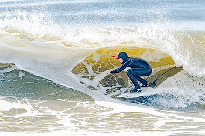 CJ Mangio - father and son surfing Lido 4-25-20