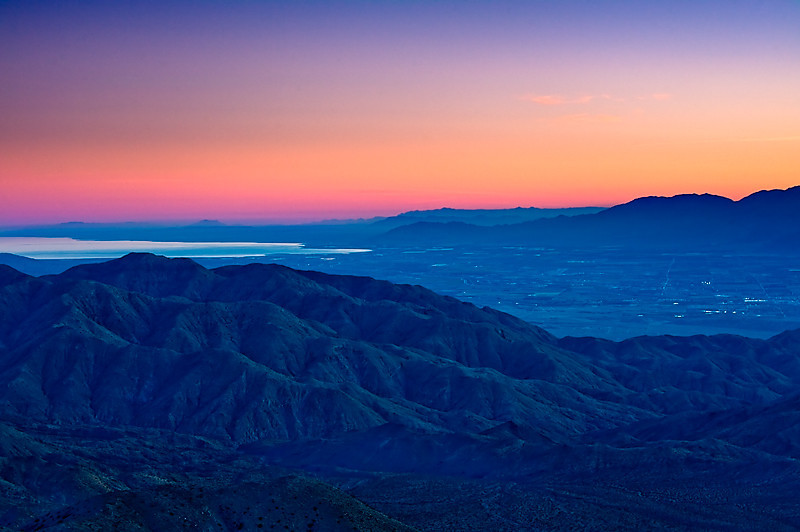 Keys View  Sunset over the Coachella Valley