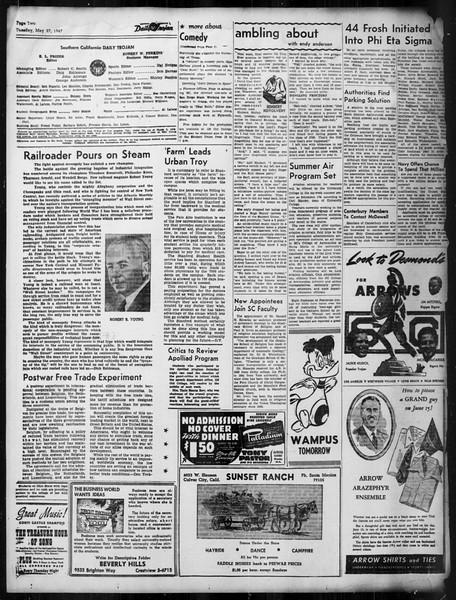 Daily Trojan, Vol. 38, No. 143, May 27, 1947