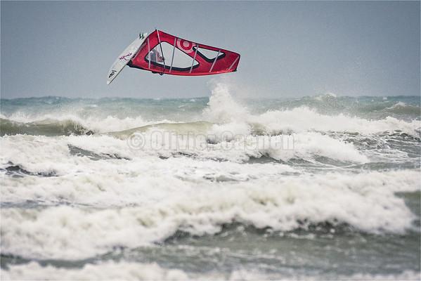 Windsurf session  Le Touquet 24-12-2015