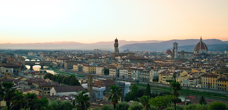 """Views of Florence"" from Piazza de Michelangelo, Florence, Italy"