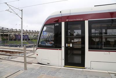 Baton Relay on the Tram