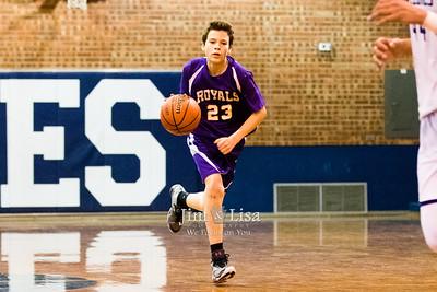 8th Grade Boys Basketball at Casady, February 1