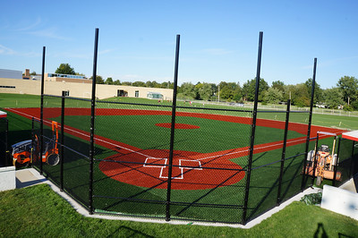 Lutheran West Baseball Field Turf Installation - September 2012
