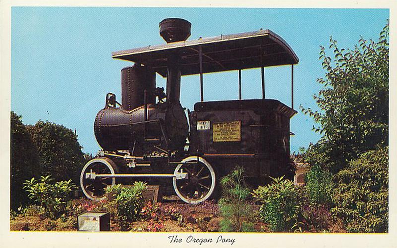 Oregon Pony at Portland Union Station, circa 1940 (Post Card)