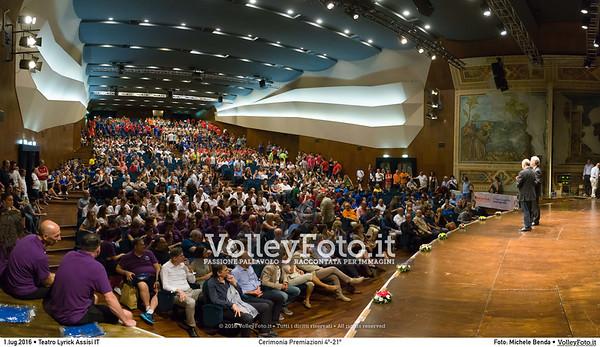 Cerimonia Preamiazioni 4º-21º #TDRVolley2016