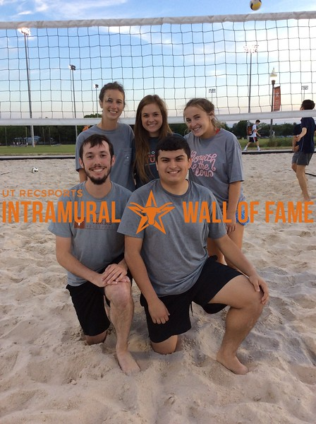 Spring 2018 Sand Volleyball Coed A Runner-Up black pANNEthers