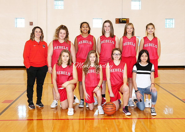 SNMS Girls Basketball 6th Grade Team 2018