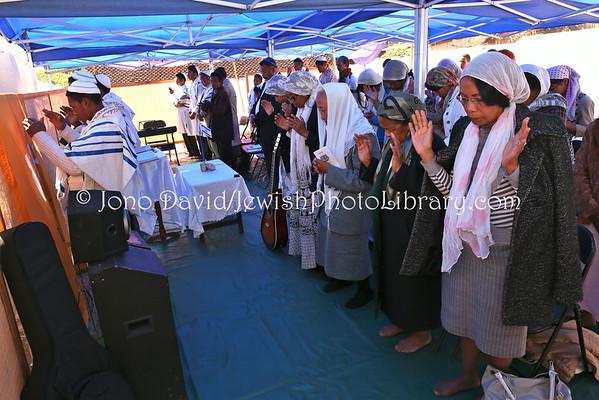 MADAGASCAR, Antananarivo, Ambohitrarahaba. Beit HaTefilah Israel, Shabbat service, Saturday, August 2, 2014 (8.2014)