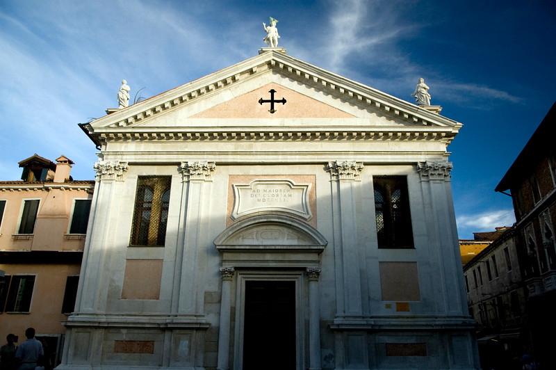 18th century Santa Fosca church, Cannaregio quarter, Venice, Italy