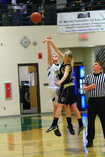 St Maries Varsity girls vs timberlake 1-28-2012