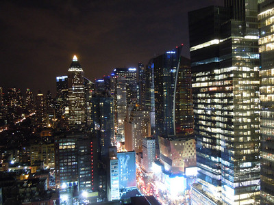 March 2014 New York City night skyline