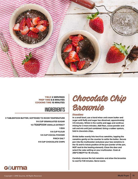 Gourmia Multi Fryer cookbook