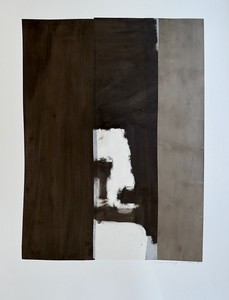 b&w abstract (MM15-29)-Mackey, painting on 22x30 paper
