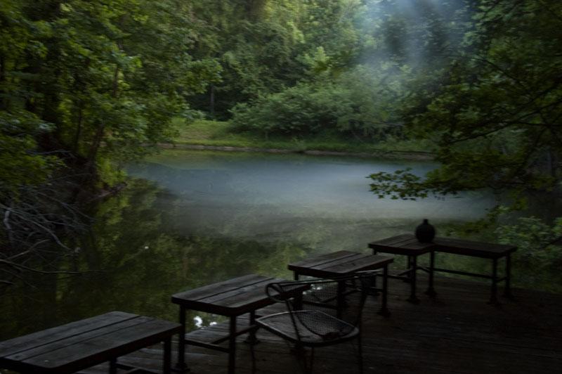 Beautiful mist hanging over Warren's pond