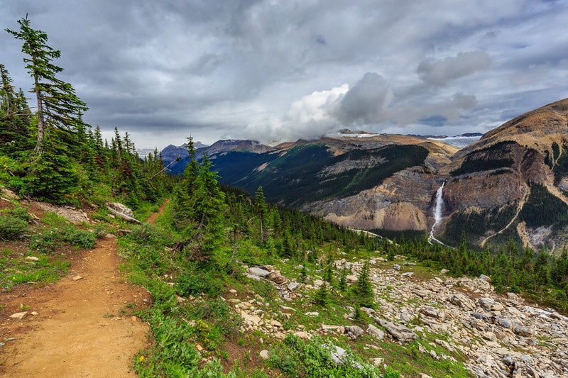 Yoho Valley And Takakkaw Falls From Highline Trail