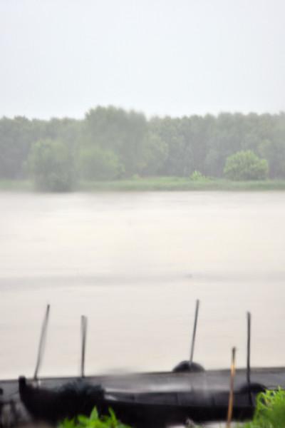 Po River - Roccabianca, Parma, Italy - June 20, 2010