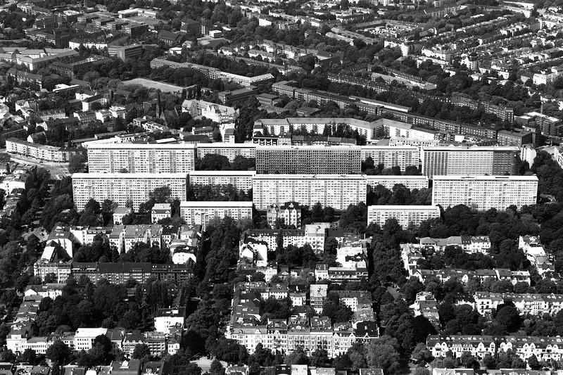 Luftaufnahme Grindel Hochhäuser