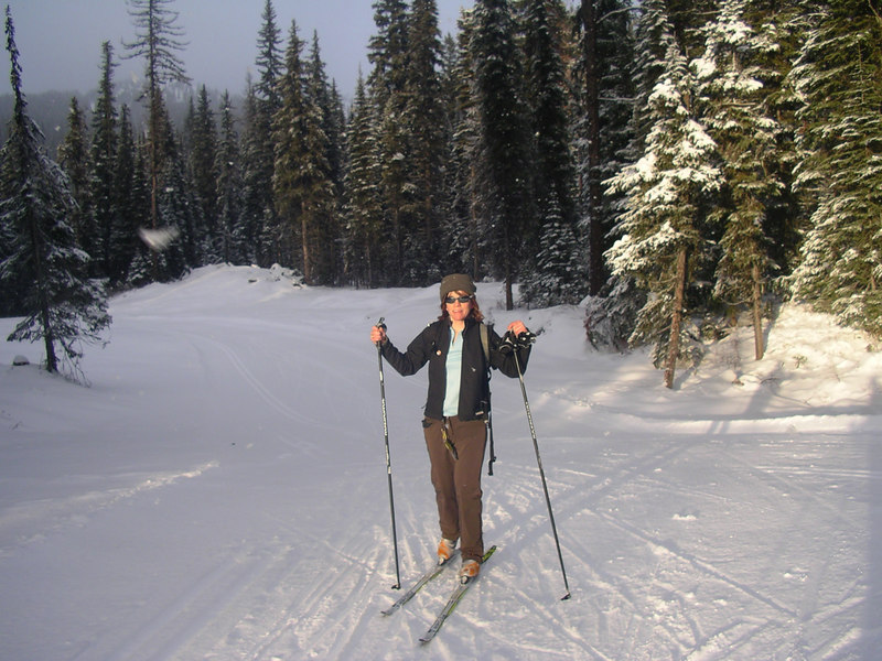 On my skate skis for the first time of the year.  Exhausting!