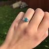1.73ctw Blue Marquise Cut Diamond Trilogy Ring 1