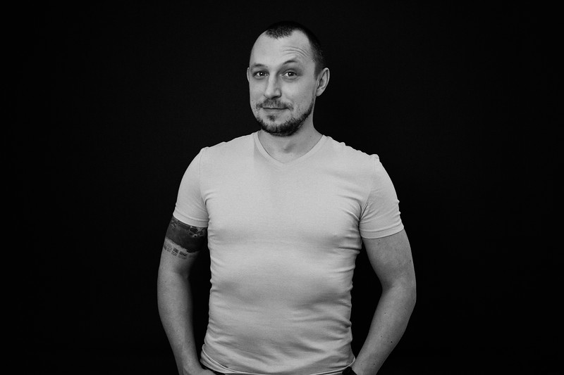 Tattoo studio owner Erik. Saint Petersburg, 2019.