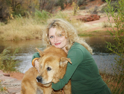 "Photo Shoot, Angela Windolph & ""Poopie Bear"" - Red Rock Crossing, Sedona, AZ; November 8, 2012"