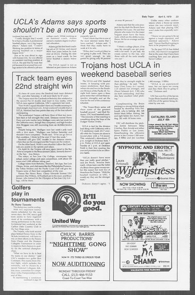 Daily Trojan, Vol. 76, No. 39, April 05, 1979