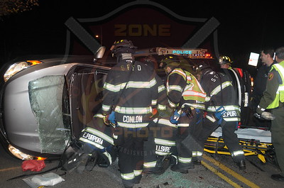 South Farmingdale F.D.  MVA w/ Overturn and Entrapment  Round Swamp Rd. and Bethpage Rd. 11/16/14