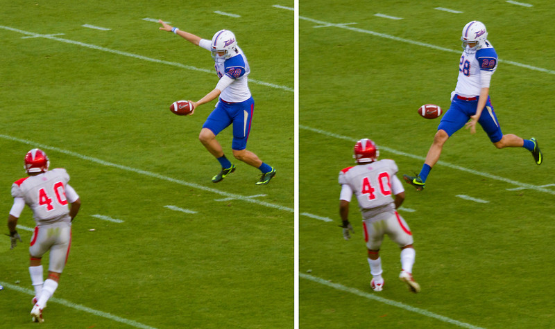 Coleway punts for Tulsa