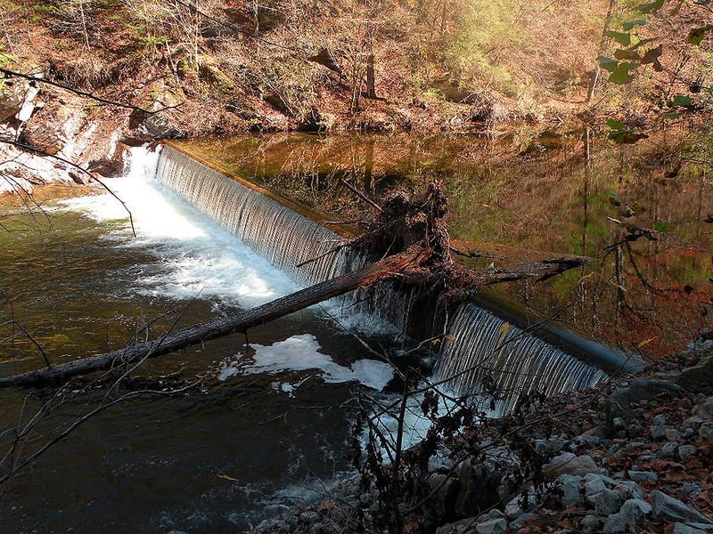 Low dam across Citico Creek