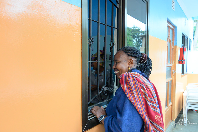 Mama, as she is called, runs the orphanage at her home in Arusha.