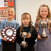 Kingsmill PS end of year presentations,Foundation Stage award winners,Kacey Hamilton,Fayth Porter,Kingsley Kehoe.