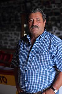 Manuel Dias de Fraga (Calheta de Nesquim, Pico), born 1935, pictured in the whaleboat house in his village. August 14, 2012.