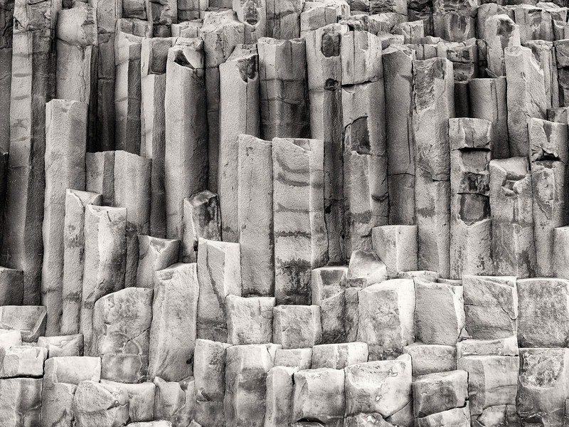 Basalt Columns on the Black Sand Beach at Vik