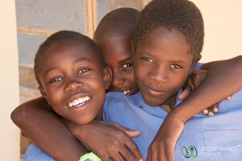 Namibian School Boys - Spitzkoppe, Namibia