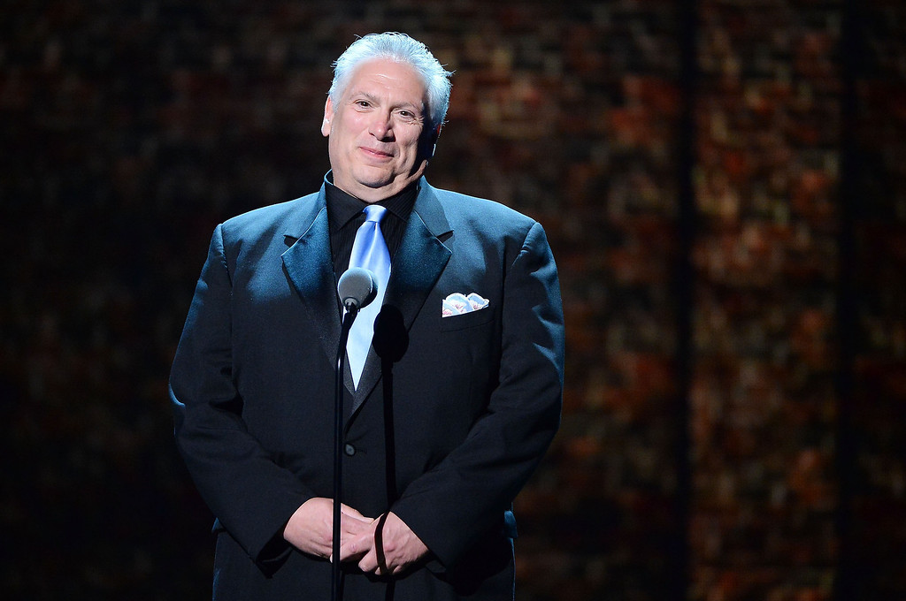 . Playwright Harvey Fierstein speaks onstage during the 68th Annual Tony Awards at Radio City Music Hall on June 8, 2014 in New York City.  (Photo by Theo Wargo/Getty Images for Tony Awards Productions)