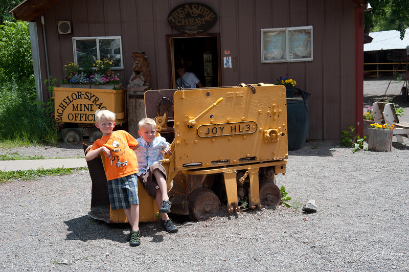 We visiting an old mine in Ouray.