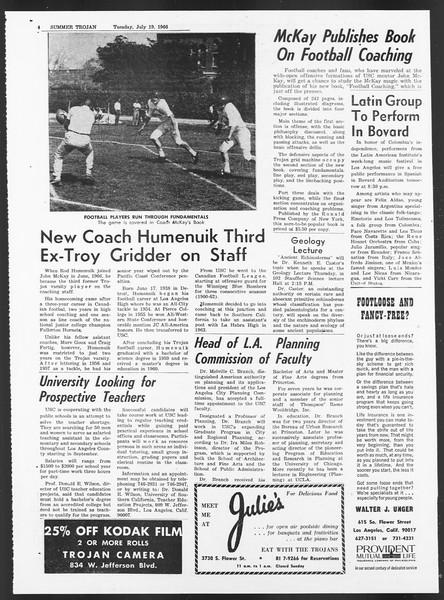 Summer Trojan, Vol. 17, No. 8, July 19, 1966