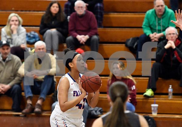 3/1/2018 Mike Orazzi   Staff St. Pauls Jade Udoh (42) during the Class M Second Round of the CIAC 2018 State Girls Basketball Tournament with Stonington in Bristol Thursday night.